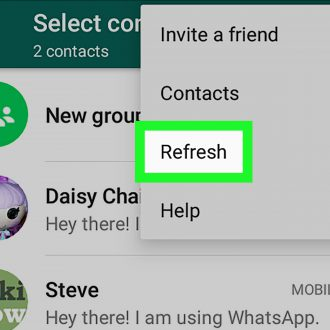 Contacts on WhatsApp